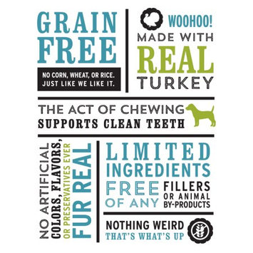 I and Love and You Fresh All Rover Breath Bones Turkey Flavor Dog Treats, 4 Oz, 3 Ct