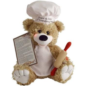 Pbc International Chantilly Lane Sugar the Baker Bear, Its a Marshmallow World, Brown and White