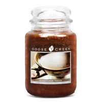 Goose Creek 26-Ounce Maple Toddy Essential Jar Candle with Glass Lid