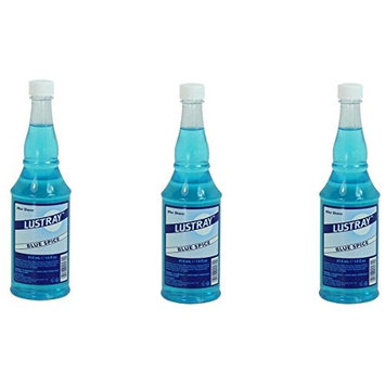 [VALUE PACK OF 3] CLUBMAN LUSTRAY BLUE SPICE AFTER SHAVE 14 OZ: Beauty