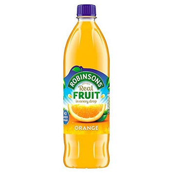Robinson's Orange Fruit Drink, No Added Sugar, 900ml Plastic Bottle (Pack of 6)
