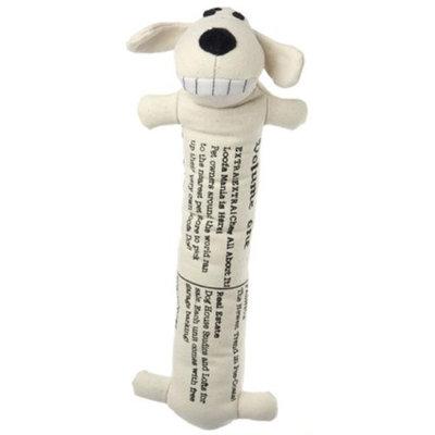 Multipet International 12 Loofa Gazette Plush Dog Toy
