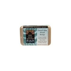 One With Nature Dead Sea Mud Soap Bar, 7oz (Pack of 6)
