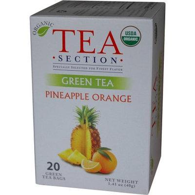 Tea Section Pineapple Orange Organic Green Tea 20 Bags - Case of 6