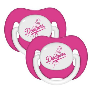 Fansedge L.A. Dodgers Girls 2Pack Team Logo Pacifiers PinkWhite