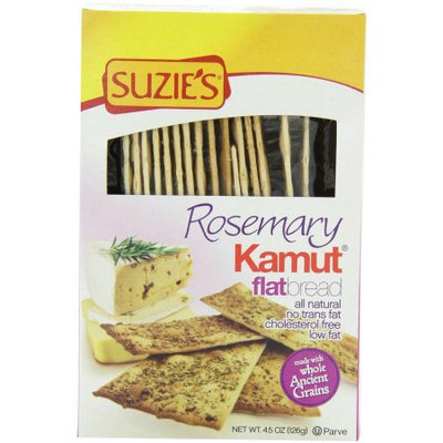 Suzie's Rosemary Kamut Flatbread, 4.5 oz, (Pack of 6)