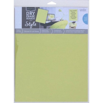 Crescent Cardboard Co Color Notes Dry Erase Board, 11' x 14', Chartreuse