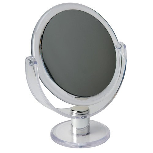 """Dual Sided 10X Magnification 7"""" Rubberized Vanity Mirror"""
