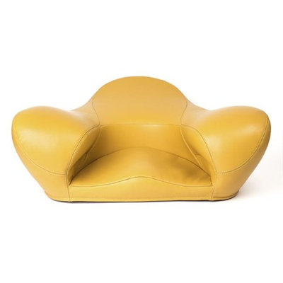 Alexia Meditation Seat D371-CU018 Meditation Leather Seat Yellow - Very Large