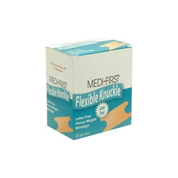 Medifirst Latex Free Extra Heavy Weight Cloth Knuckle Bandages 40/Box