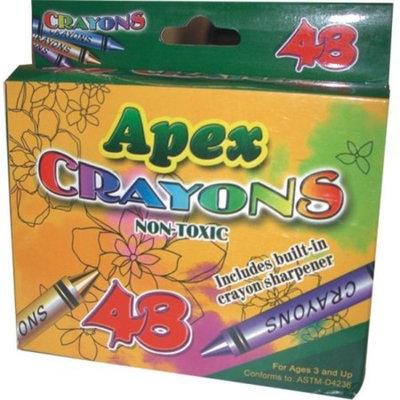 DDI 1277492 Apex Crayon 48 ct w/Sharpener Case of 48