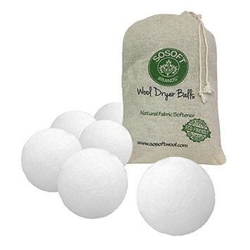 SoSoft Wool Dryer Balls 100% Premium So Soft Wool Dryer Balls XL Hand Made in Nepal All Natural Eco Friendly All Natural Fabric Softener