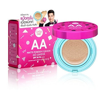 Cathy Doll AA Matte Powder Cushion Oil Control SPF 50 #23 Natural Beige 6 grams (small size)