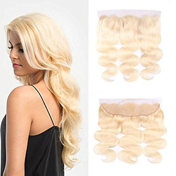 IUEENLY 613 Blonde Lace Frontal Closure Brazilian Body Wave Frontal Free Part Virgin Human Hair Frontal #613 Blonde Color