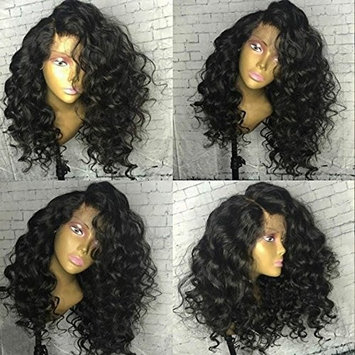 Wicca 150% Density Loose Wave 360 Lace Frontal Wig Brazilian Human Hair Lace Wig for Black Women With Baby Hair Bleached Knots (150% 16inch)
