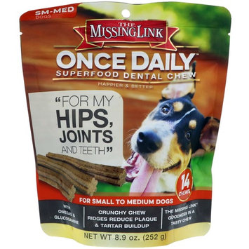 The Missing Link, Once Daily, Superfood Dental Chew, For Small To Medium Dogs, 14 Chews, 8.9 oz (252 g)