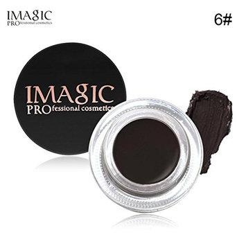 DZT1968 6colors 4g Eyebrow Enhancers Waterproof Fast-drying Long Lasting EyeBrow Gel Cream Makeup+Brush