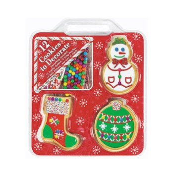 Create-a-treat Ornament Decorating Cookie Kit Set (Pack of 12)