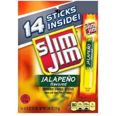 Slim Jim  Jalapeño  Meat  Smoked sticks