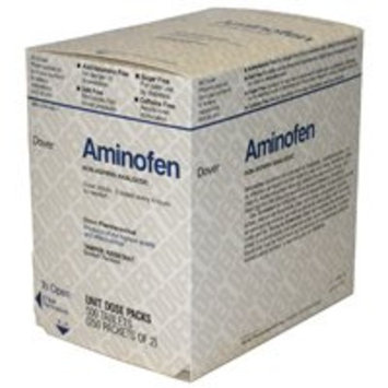 Dover 1625303 Aminofen Pain Reliever Tablets, Acetaminophen 325mg, 500 Tablets, 250 X 2