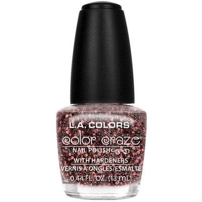 L.A. Colors Color Craze Nail Polish with Hardeners, Frou Frou, 0.44 fl oz