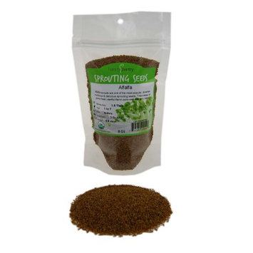 Handy Pantry Organic Alfalfa Sprouting / Sprout Seeds - Seed For Sprouts - 8 Oz