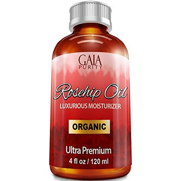 Rosehip Oil, Large 4oz - All Natural, Best Moisturizer for Face, Hair & Body to Help Heal Dry Skin, Diminish Scars, Discoloration, Acne, Wrinkles, Stretch Marks, Eczema, Skin Tags and Brittle Nails. C