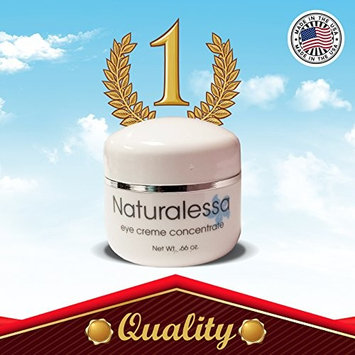 Naturalessa Eye Concentrate Crème for Wrinkles .66 oz - Reduce Dark Circles Under Eyes- Made in the USA