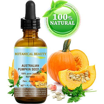 PUMPKIN SEED OIL Australian. 100% Pure / Natural / Undiluted / Refined Cold Pressed Carrier Oil. 1 Fl.oz.- 30 ml. For Skin, Hair, Lip and Nail Care.