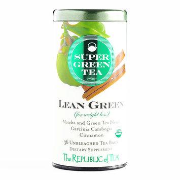 The Republic of Tea SuperGreen Tea Lean Green Blend 36 Count 1.8 oz each (1 Item Per Order, not per case)