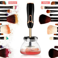 Makeup Brushes Cleaning Machine - Professional Electric Rotating Spinner dryer - Quick Cleaner Drying in seconds - Automatic Portable Device - Wash Kit Tool suit all size
