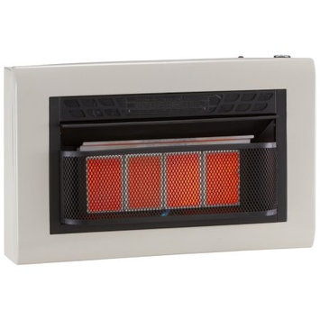 Cedar Ridge Hearth Dual Fuel Vent Free Infrared Heater - 5 Plaque, 25,000 BTU, T-Stat Control; #CH4TPU