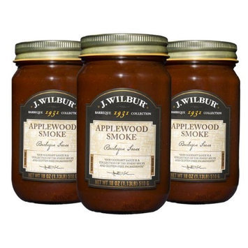 J. Wilbur Foods 193105A Applewood Smoked Barbeque Sauce - Pack of 3