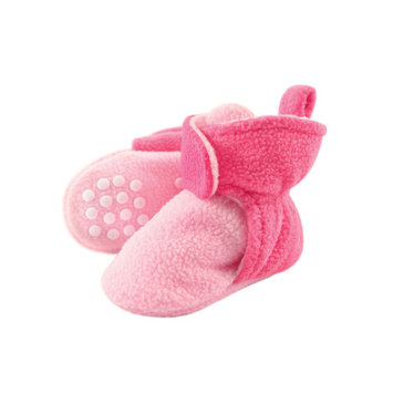 Fleece Lined Non-Skid Soft Sole Booties (Baby & Toddler Girls)