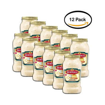 PACK OF 12 - Bertolli Carbonara Flavored with Real Bacon Pasta Sauce 15 oz.