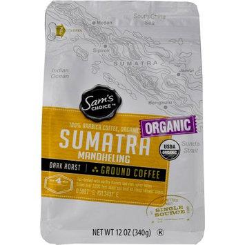 Ims International Marketing Sy Sam's Choice Organic Sumatra Mandheling Ground Coffee, Dark Roast, 12 oz