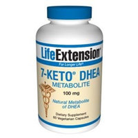 Life Extension 7-Keto DHEA Metabolite 100 mg, 60 Vegetarian Capsules [Standard Packaging]