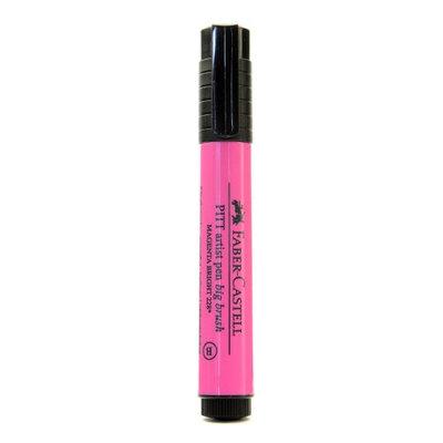 Faber-castell Pitt Big Brush Artist Pens magenta bright, 228 [pack of 4]