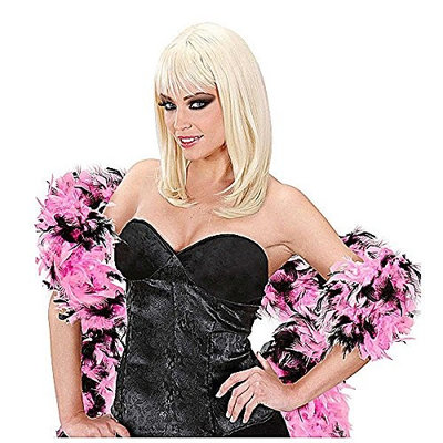 Feather Boa Bicol 180cm Pink/Black Accessory for 20s 30s Dancing Flapper Moll Fancy Dress