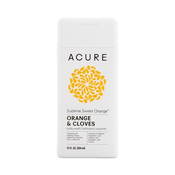Acure Organics Sublime Sweet Orange Body Wash (Pack of 2) With Cloves and Argan Oil, 12 fl. oz.