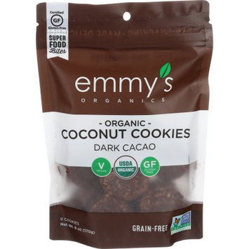 Emmy's Organics Macaroons Dark Cacao 6 oz - Vegan