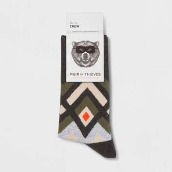 Pair of Thieves® Men's Crew Socks - Dark Green 8-12