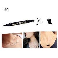 Fenleo Double Head Waterproof Liquid Eyeliner Tattoo Stamp Liner Pencil Makeup Trendy