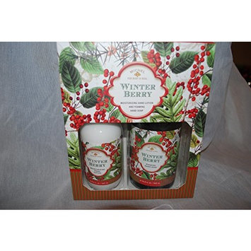 Michel Design Works Winter Berry Foaming Hand Soap and Hand Lotion Box Set