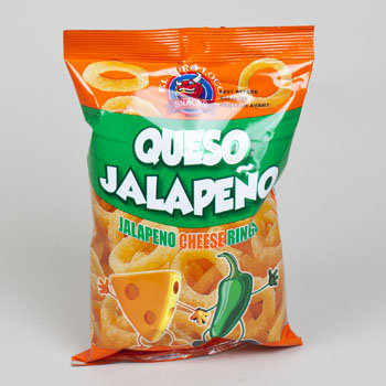 Dollaritemdirect CHEESE RINGS QUESO JALAPENO 2 OZ BAG, Case Pack of 10