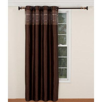Belle Maison Fiesta Lurex Striped Curtain Panel
