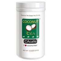 Cacafe Inc. Cacafes Coconut Tea in Jar #28526 (Cane Sugar Added)