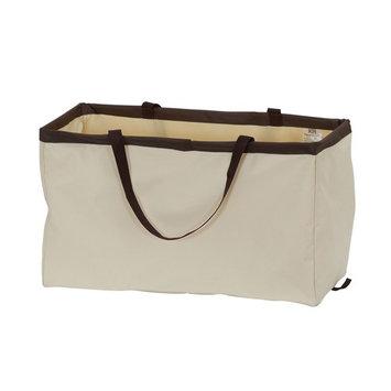 Krush Rectangle Utility Tote Bag, Natural with Brown Trim