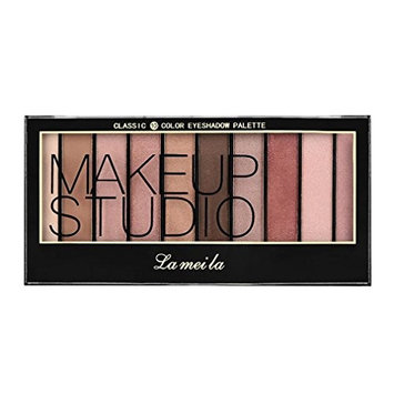 lameila 10 color Waterproof Cosmetics Cream Eyeshadow Color Makeup Pro Palette Shimmer Glitter Eyeshadow Powder By DMZing