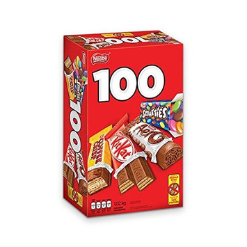 Nestle Chocolate Bars Variety Pack Snack Size 100 Count 1.02Kg